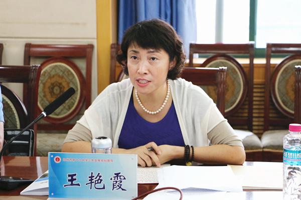 郑州市教育局三年发展规划过程性督导第一组组长王艳霞主持此次郑州19中督导工作