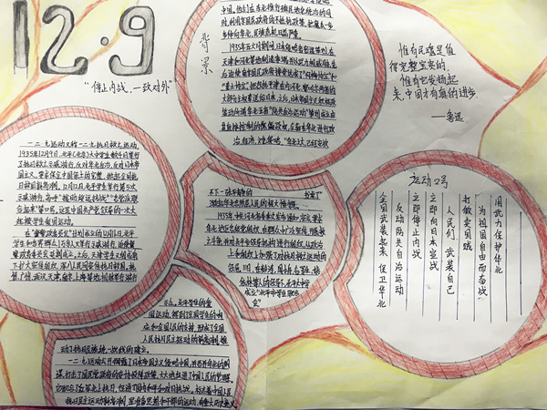 郑州19中优秀手抄报展示图片