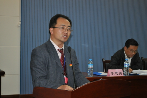 共青团郑州市委组织部部长赵凯,学校党总支马禾书记,教学副校长曾涛